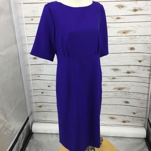 Pendleton shift wiggle dress virgin wool purple 12